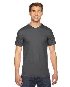 American Apparel 2001W Unisex Fine Jersey T-Shirt Asphalt Xl
