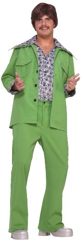 Forum Novelties Men's 70's Leisure Suit Costume, Green, -
