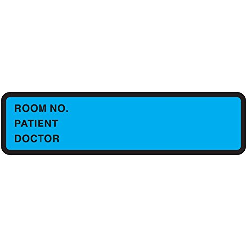 PDC Healthcare 59704843 Binder/Chart Label Paper, Removable Room No. Patient, 5 3/8 x 1 3/8, Blue (Pack of 500) by PDC Healthcare (Image #1)