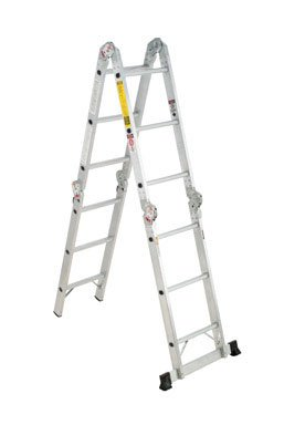 Werner Multi-Ladder Articulated Ladder Aluminum 12 ' Type Ia 300 Lb Heavy Duty (Werner 16 Ft Aluminum Multi Position Ladder)