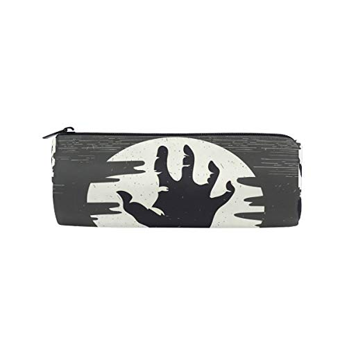 JERECY Halloween Zombie Hand Pencil Case Pouch Bag School Stationery Pen Box Zipper Cosmetic Makeup Bag -