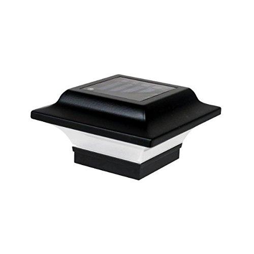 (Classy Caps SL082B 2.5x2.5 Imperial Solar Post Cap - 2 Pack/Black)