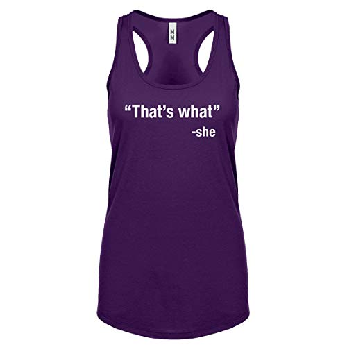 Racerback That's What -She XX-Large Purple Womens Tank Top