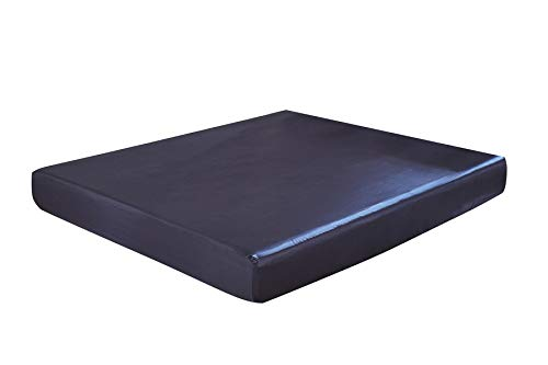 INSTING Blue Luxury Soft Silky Satin Fitted Sheet-Queen