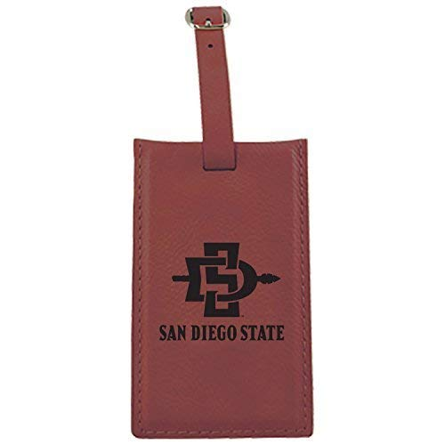 San Diego State University – Leatherette Luggage tag-burgundy   B013VZ46QE
