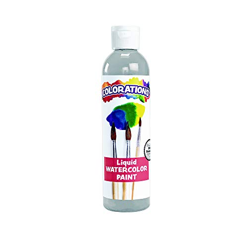 Colorations Liquid Watercolor Paint, Gray - 8 oz. (Item # LWGY) ()