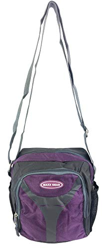 Maxx Gear Unisex Excursion Organizer Shoulder Bag Day Pack (Purple)