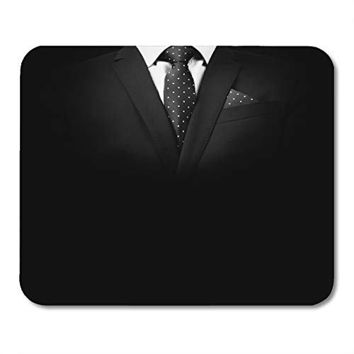 Nakamela Mouse Pads Businessman White Corporate Man in Suit on Black Studio Shot Gray Portrait Handsome Mouse mats 9.5