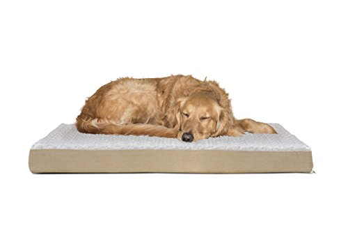 FurHaven Deluxe Orthopedic Pet Bed Mattress for Dogs and Cats, Cream, Large