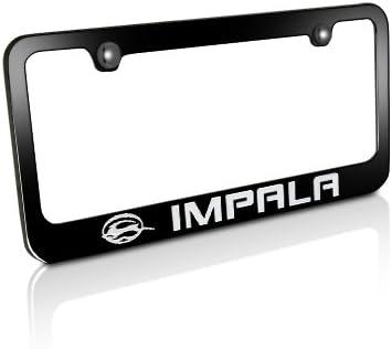 Sales GM Chevrolet Impala Black Max 59% OFF Frame License Metal Plate