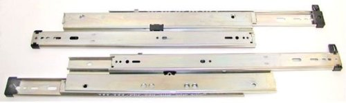 Knape & Vogt Kv8525 P18 18 In. Overtravel 175 Lb. Drawer Slides For Up To 36 In. Lateral Files - Anochrome