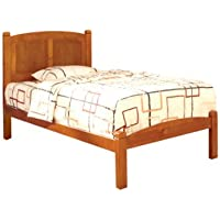 Furniture of America Galen Oak Platform Bed, Full