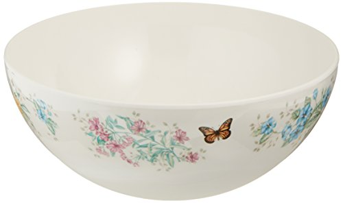 Lenox Butterfly Meadow Melamine Serving Bowl, Medium, White