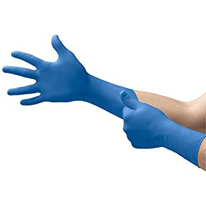Microflex SG-375 Disposable Latex Gloves Medical / Exam Grade, Long Cuff, Thick Powder Free Glove in Natural Rubber for…