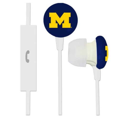 Ignition Earbuds - Michigan Wolverines Ignition Earbuds + Microphone