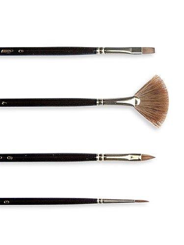 Silver Brush 7102-18 Renaissance Pure Red Sable Long Handle Premium Quality Brush, Bright, Size 18