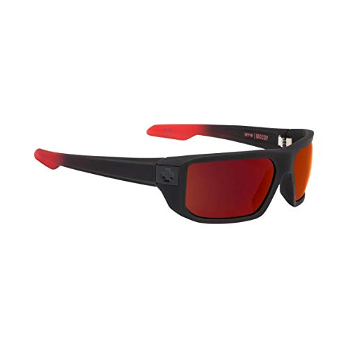 Spy Optic Unisex McCoy Mccoysoft Matte Black/Red Fade/Happy Gray/Green/Red Flash One Size