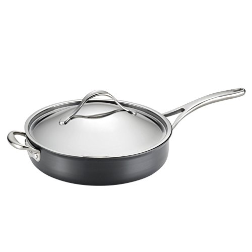 Anolon Nouvelle Copper Nonstick Covered Saute Pan, 5-Quart, Dark (Anolon Non Stick Saute Pan)