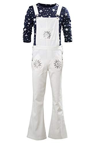 Mens Elton John Costume Halloween Cosplay Casual Flares Pants Shirts Full Set (M, Elton)]()