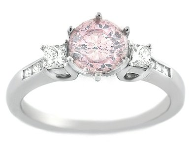 165 pink diamond engagement ring - Pink Wedding Ring