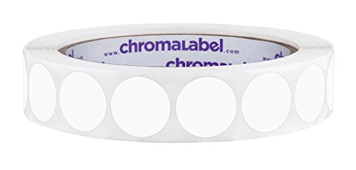 ChromaLabel 3/4 inch Color-Code Dot Labels | 1,000/Roll (White)