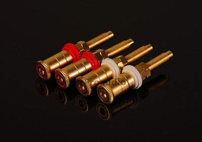 FidgetFidget Gold Plated Copper Speaker Binding Posts Terminal Connectors style