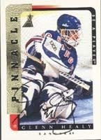 Glenn Healy New York Rangers 1996 Upper Deck Be A Player Autographed Card - Certified Autograph. This item comes with a certificate of authenticity from Autograph-Sports. (Authentic Player Autographed Card)