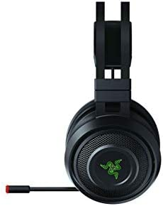 Razer Nari Wireless 7.1 Surround Sound Gaming Headset: THX Audio - Auto-Adjust Headband & Swivel Cups - Chroma RGB - Retractable Mic - For PC, PS4, PS5 - Black