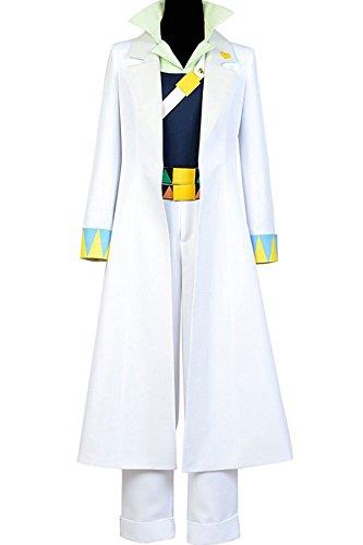 UU-Style JoJo's Bizarre Adventure Uniform Jotaro Kujo White Cosplay Costume Halloween Suit Full Set -