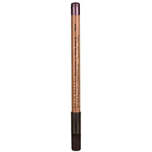 (Ecco Bella Natural Soft Eyeliner Pencil for Beautiful, Flawless Liner - Eyeliner for Sensitive Eyes - Violet - .04 oz.)