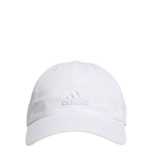 adidas Women's Saturday Relaxed Adjustable Cap, White/White, One Size
