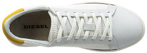 Diesel Mens Dyneckt S-naptik Mesh Fashion Sneaker Wit