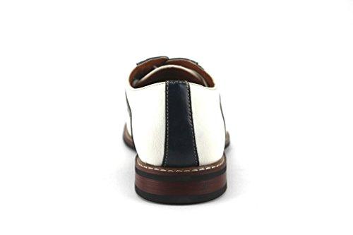 4df02c69b91d0 Ferro Aldo Men's 19268A Two Tone Saddle Lace Up Oxfords Dress Shoes ...