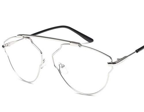 Silver Gafas aire grande unisex Marco de Decoración Ojos al Gafas FlowerKui protección libre B70gwqx