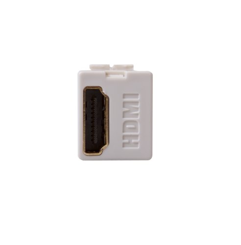 - Leviton 40834-I Feed Through, QuickPort HDMI Connector, Ivory