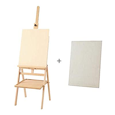 LING AI DA MAI Solid Wood Foldable Easel, Artist Oil Easel, Portable with Tray Beech Landing Easel, Display Stand