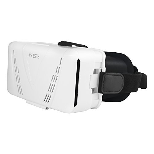 "ESEE 3D VR Glasses Virtual Reality Headset Video Movie Game Box for 3.5""~6.0"" iPhone & Android Smartphone (White)"
