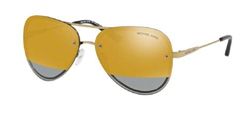 Michael Kors Women's La Jolla 0MK1026 59mm Pale Gold Tone/Block Gold Mirror One - Michael Yellow Sunglasses Kors