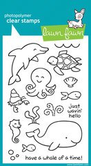 Lawn Fawn - Clear Acrylic Stamps - Critters in the Sea by Lawn Fawn