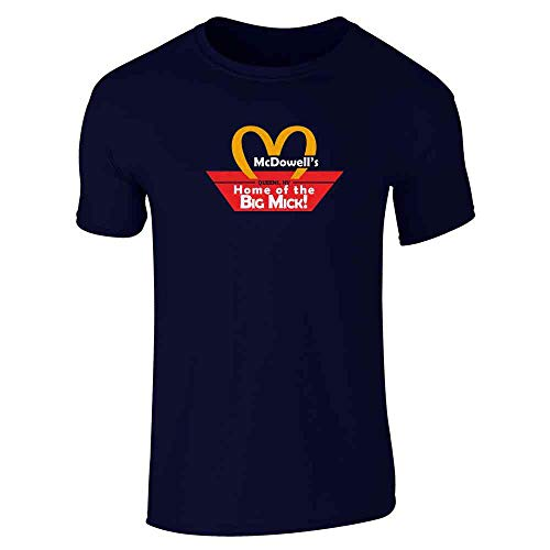 Pop Threads McDowell's Queens NY Navy Blue 3XL Short Sleeve T-Shirt]()