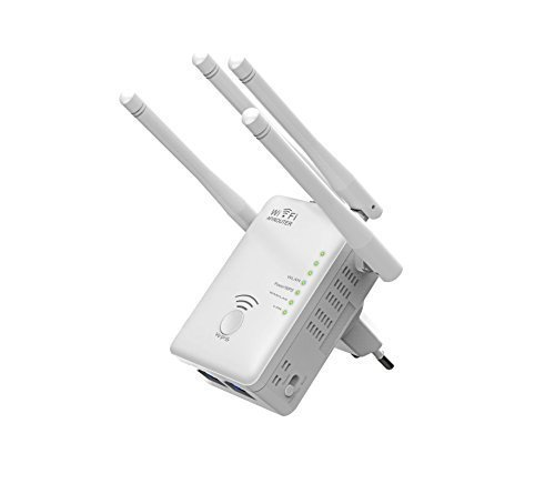 Supremery – AC1200 Dual Band WLAN Repeater (Repeater, Access Point, Router | LAN ports, 4x Wifi antenna / Wireless AC (5 GHz) + 300 Mbit / Wireless N (2.4 GHz) | Wifi 2.4GHz + 5GHz