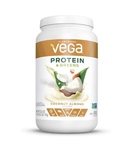 Vega Protein & Greens Coconut Almond (25 Servings, 26.5 Ounce)- Plant Based Protein Powder, Keto-Friendly, Gluten Free,  Non Dairy, Vegan, Non Soy, Non GMO