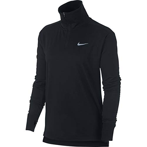 Nike Women's Therma Sphere Element Half-Zip Running Pullover (Black, Small)