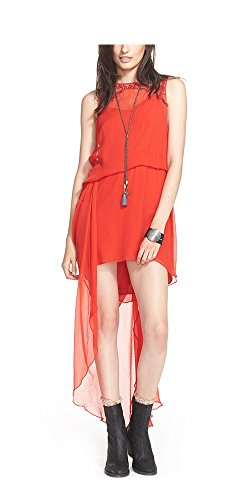 Free People Women's 'Red Hot' Embellished Dress (0, Red)