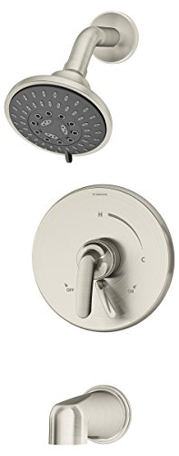 Symmons 5502-TRM Elm 1- Handle Tub and Shower Faucet System, Chrome
