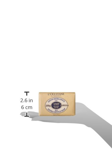 L'Occitane Extra-Gentle Vegetable Based Soap Enriched with Shea Butter - Milk Scent, 8.8 oz.