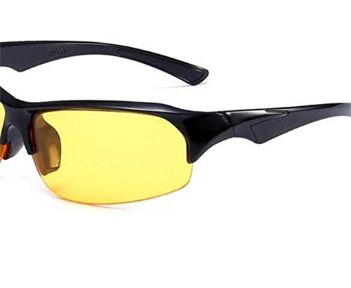 Huyizhi Soleil nocturne voyager Cool Yellow Hommes Soleil UV400 Protection de Jaune Lunettes Femmes Lunettes Lunettes Lunettes Cyclisme de de vision cOrcUHpW