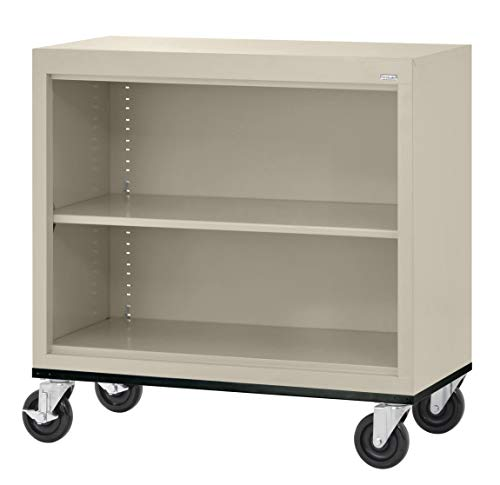 (Sandusky Lee BM10361830-07 Elite Series Welded Mobile Bookcase, 18