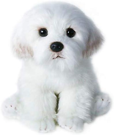 wwwl Juguete de Peluche M Tamaño Bichon Frise Cachorro Peluche Perro De Peluche Peluche Simulación Linda Mascotas Fluffy Baby Dolls Regalos De Cumpleaños para Niños