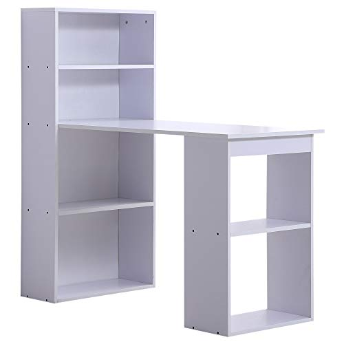 Bookcase Secretary Desk - HOMCOM 47